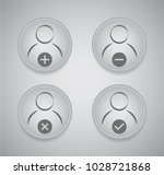 user icon set | Shutterstock .eps vector #1028721868