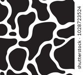 seamless cow skin fashion... | Shutterstock .eps vector #1028723524