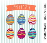 Easter Eggs Set. Colorful...