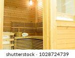 empty sauna room with... | Shutterstock . vector #1028724739