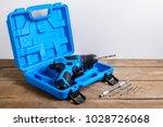 electric drill box set  drill...   Shutterstock . vector #1028726068