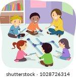 illustration of stickman kids... | Shutterstock .eps vector #1028726314