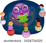 illustration of stickman kids... | Shutterstock .eps vector #1028726320