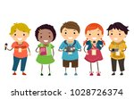 illustration of stickman kids... | Shutterstock .eps vector #1028726374