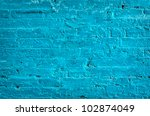brick wall painted blue for... | Shutterstock . vector #102874049