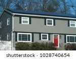 solar panel installed on the... | Shutterstock . vector #1028740654