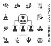 hierarchy icon. set of human... | Shutterstock .eps vector #1028742970