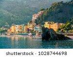 monterosso al mare  old seaside ... | Shutterstock . vector #1028744698
