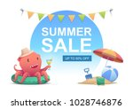 cute red octopus holding a...   Shutterstock .eps vector #1028746876