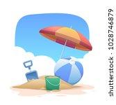summer holidays beach... | Shutterstock .eps vector #1028746879