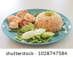 grilled seafood with cooked... | Shutterstock . vector #1028747584