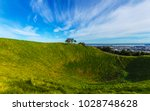 mt eden crater and view to... | Shutterstock . vector #1028748628
