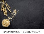 cereals background. raw oatmeal ...   Shutterstock . vector #1028749174