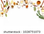 seasoning background. dry... | Shutterstock . vector #1028751073