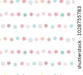 seamless pattern of pastel star ... | Shutterstock .eps vector #1028755783