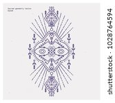 sacred geometry tattoo set.... | Shutterstock .eps vector #1028764594