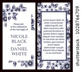 invitation with floral... | Shutterstock . vector #1028766709