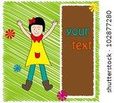 girl frame design | Shutterstock .eps vector #102877280