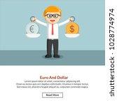 euro and dollar job information | Shutterstock .eps vector #1028774974