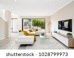 colourful home interior with... | Shutterstock . vector #1028799973