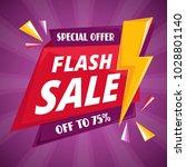 flash sale background vector | Shutterstock .eps vector #1028801140