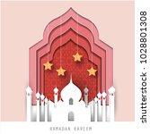 celebrate ramadan and eid... | Shutterstock .eps vector #1028801308