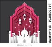 celebrate ramadan and eid... | Shutterstock .eps vector #1028801314