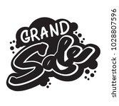 grand sale lettering... | Shutterstock .eps vector #1028807596