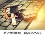 online learning or e learning... | Shutterstock . vector #1028809318