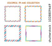 Flat Colorful Frame Vector