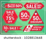vector collection of red sale... | Shutterstock .eps vector #1028813668