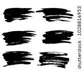 grunge ink brush strokes set.... | Shutterstock .eps vector #1028816953