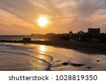 sea village at the spanish... | Shutterstock . vector #1028819350