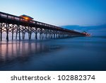 The Folly Beach Pier At Dawn  ...