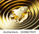 gold stellar on the gold circle ... | Shutterstock . vector #1028827819