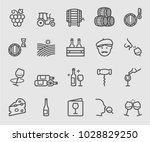 wine line icon | Shutterstock .eps vector #1028829250