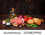 tasty grilled home made burgers ... | Shutterstock . vector #1028829940