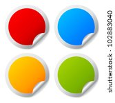 round stickers set | Shutterstock . vector #102883040