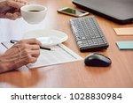 closeup photo of businessman... | Shutterstock . vector #1028830984
