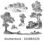 tree illustration | Shutterstock . vector #102883220