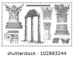old greek set illustration | Shutterstock . vector #102883244