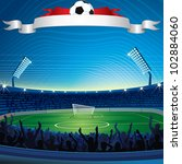 background with soccer stadium. ... | Shutterstock .eps vector #102884060