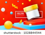 vector 3d realistic abstract... | Shutterstock .eps vector #1028844544
