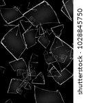 background of broken glass   Shutterstock . vector #1028845750