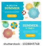 hello summer time banner... | Shutterstock .eps vector #1028845768