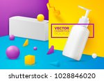 vector 3d realistic abstract... | Shutterstock .eps vector #1028846020