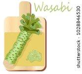 wasabi japanese horseradish... | Shutterstock .eps vector #1028846530