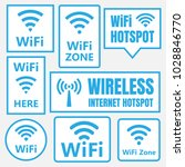 wireless icons set  wifi signs... | Shutterstock .eps vector #1028846770