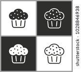 cake   black and white vector...   Shutterstock .eps vector #1028846938