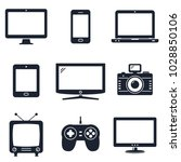 modern technology devices icons | Shutterstock .eps vector #1028850106